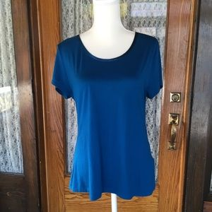 Banana Republic Dressy T-Shirt/ Blouse Teal Large